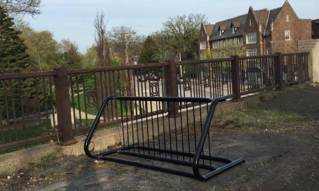 New Bike Rack on the Green Bay Trail